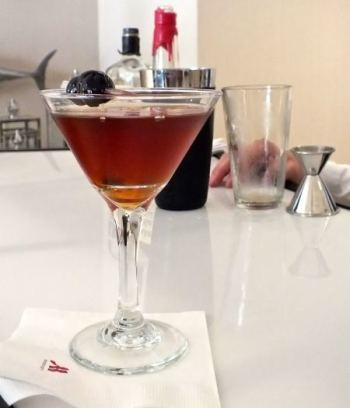 Manhattan Cocktail Marriott Irvine. Photo by Ed Simon for the Los Angeles Beat.