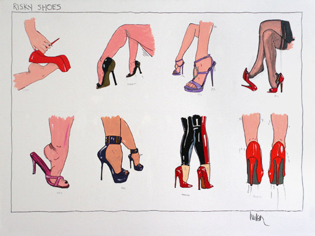 'Risky shoes', picture courtesy of Hudson Marquez.