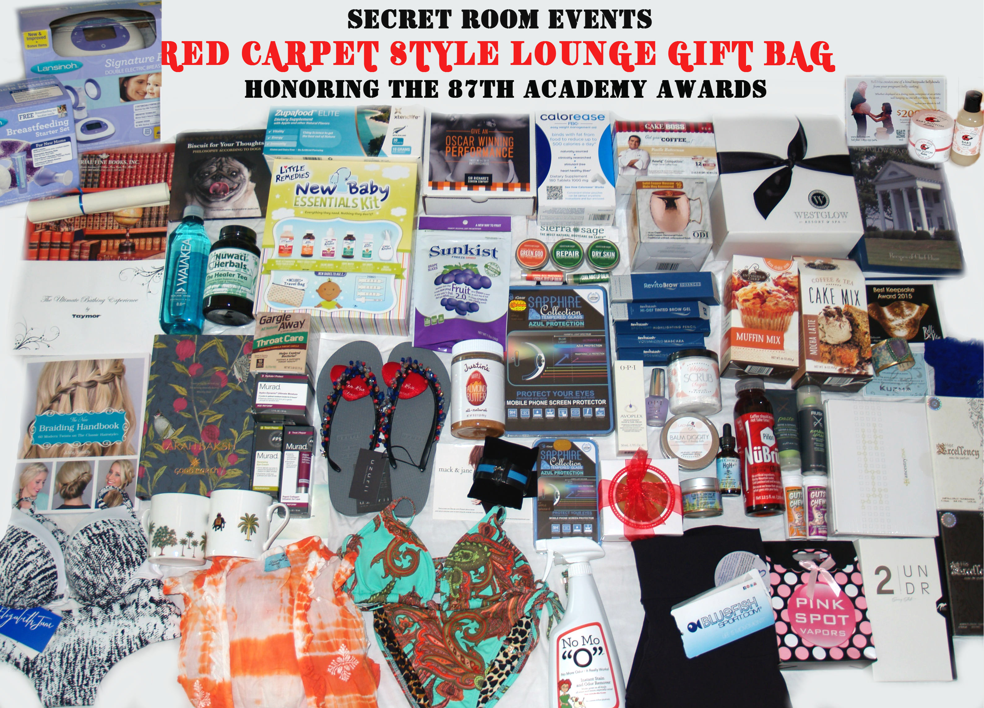 2015 Secret Room Events Style Lounge Swag Gift Bags Academy Awards ...