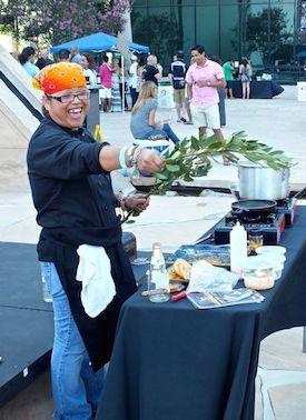 Chef Bev Lazo will be at the SAWC BBQ Championship. Photo by Edward Simon for The Los Angeles Beat.