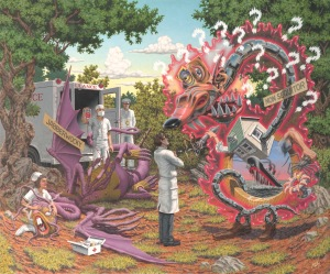"New work by Robert Williams ""Death by Exasperation"""