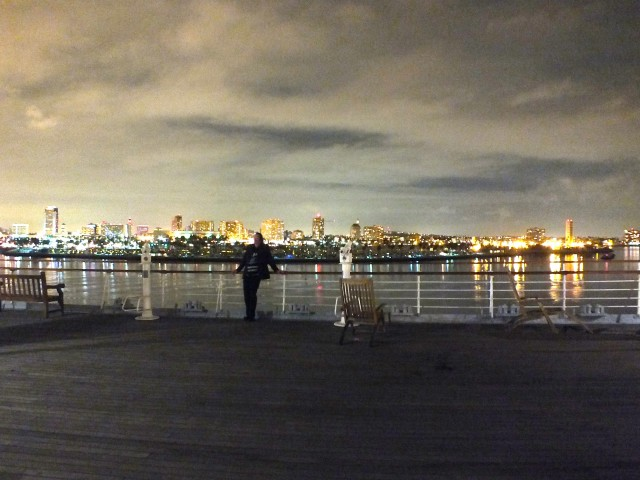 Long Beach skyline from the  Queen Mary. Photo by Ed Simon for the Los Angeles Beat.