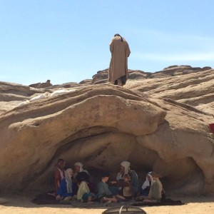 Children play peasants in the Passion Play at Vasquez Rocks (photo by Nikki Kreuzer)