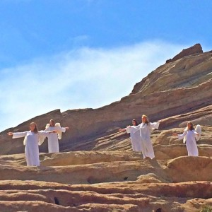 Angels on the mountain, or is it a 70s Swedish pop band? (photo by Nikki Kreuzer)