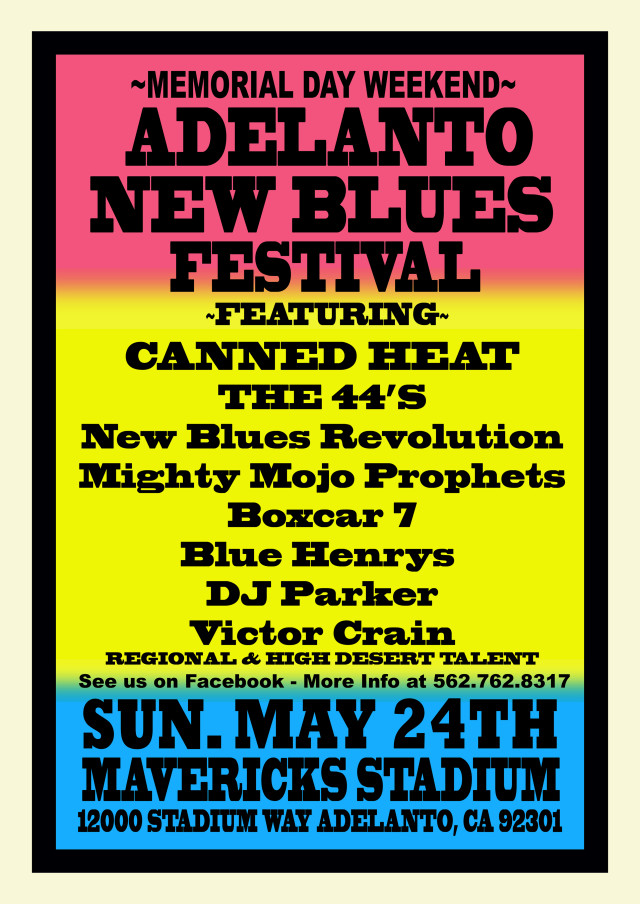 ADELANTO NEW BLUES FESTIVAL POSTER