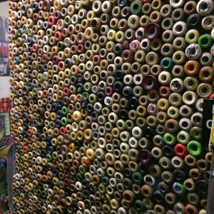 Part of the Wall 'o Wheels (photo by Nikki Kreuzer)