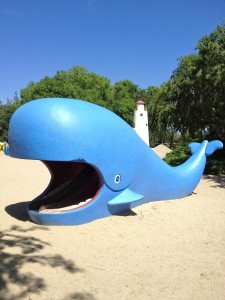 Minnie the Whale, climb up her back & slide down her tongue (photo by Nikki Kreuzer)