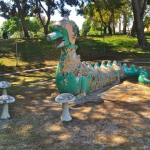 Mother Serpent and Mushrooms, built in 1960 at Legg Lake (photo by Nikki Kreuzer)