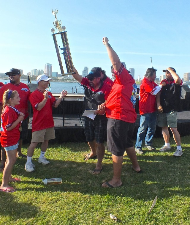 Jet Coatings Monkey Style getting their Grand Champion award in 2014. Photo by Ed Simon for The Los Angeles Beat.