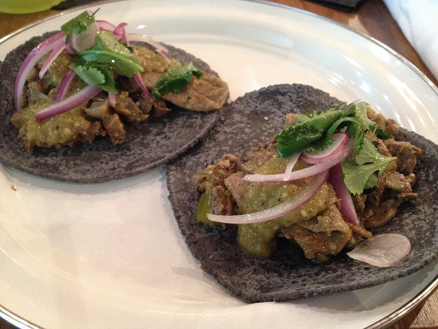 Lengua tacos at BS Taqueria