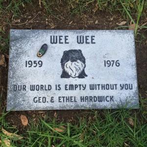 Wee Wee 1959-1976 (photo by Nikki Kreuzer)