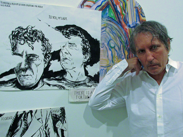 raymond pettibon, the man himself w/stereo self-portraits