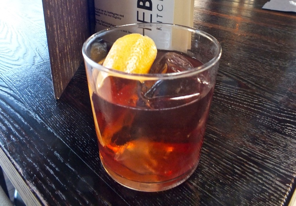 Blind Pig Negroni. Photo by Ed Simon for The Los Angeles Beat.