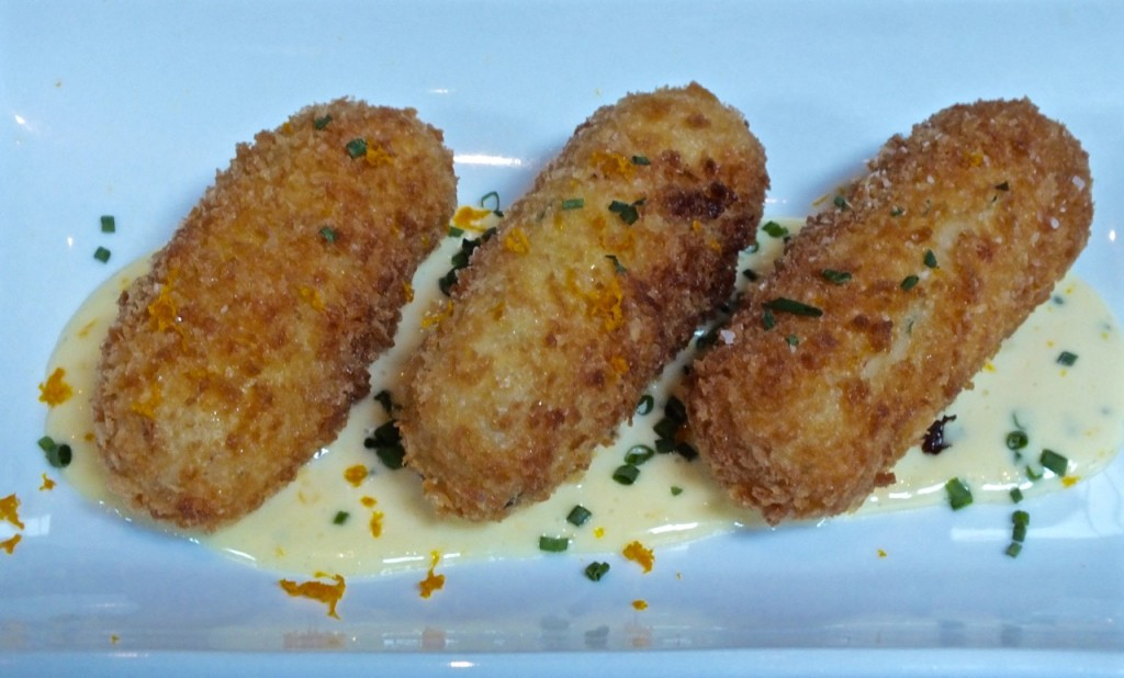 Croquetas de Bacalao.  Photo by Ed Simon for The Los Angeles Beat.