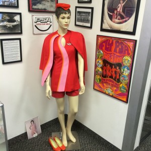 The Flight Museum has the largest collection of vintage flight attendant uniforms in the country (photo by Nikki Kreuzer)