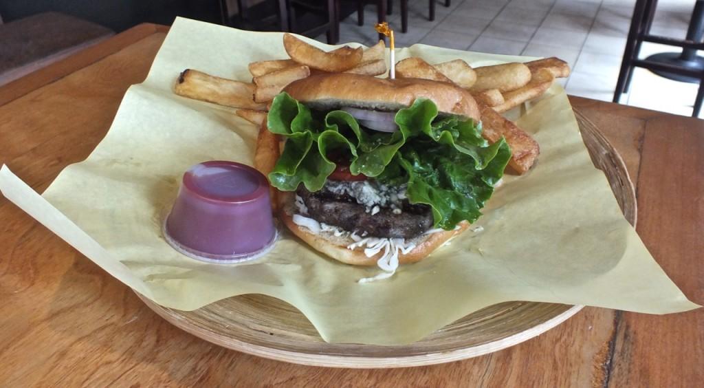 Habanero burger combo. Photo by Ed Simon for The Los Angeles Beat.
