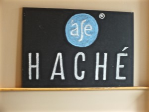 Hache sign. Photo by Ed Simon for The Los Angeles Beat.