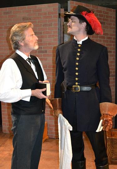 (L-R) Gordon Goodman as John Brown and William Reinbold as Jeb Stuart, Photo Courtesy of Mary Lange