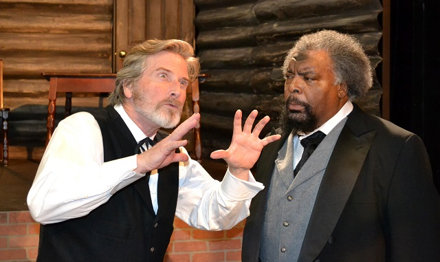 (L-R) Gordon Goodman as John Brown and J.D. Hall as Frederick Douglass, Photo Courtesy of Mary Lange