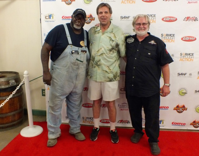 Myron Mixon, Kermit from Outta Gas BBQ Team and Moe Cason. Photo by Ed Simon for The Los Angeles Beat.