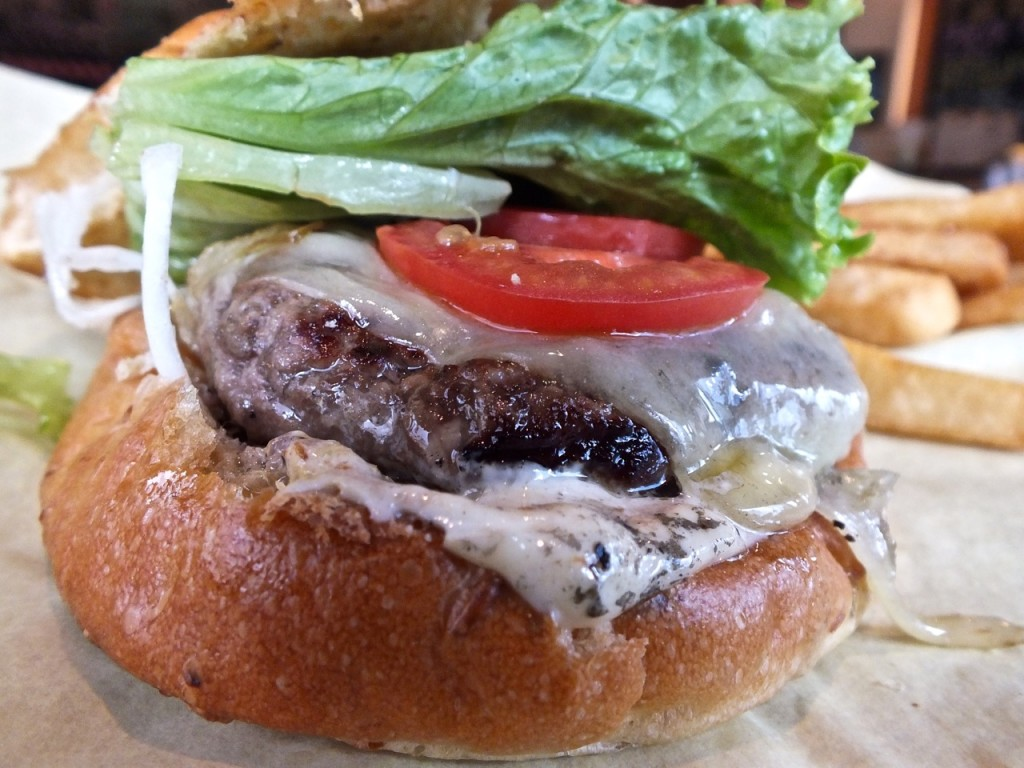 Onion Swiss Burger. Photo by Ed Simon for The Los Angeles Beat.