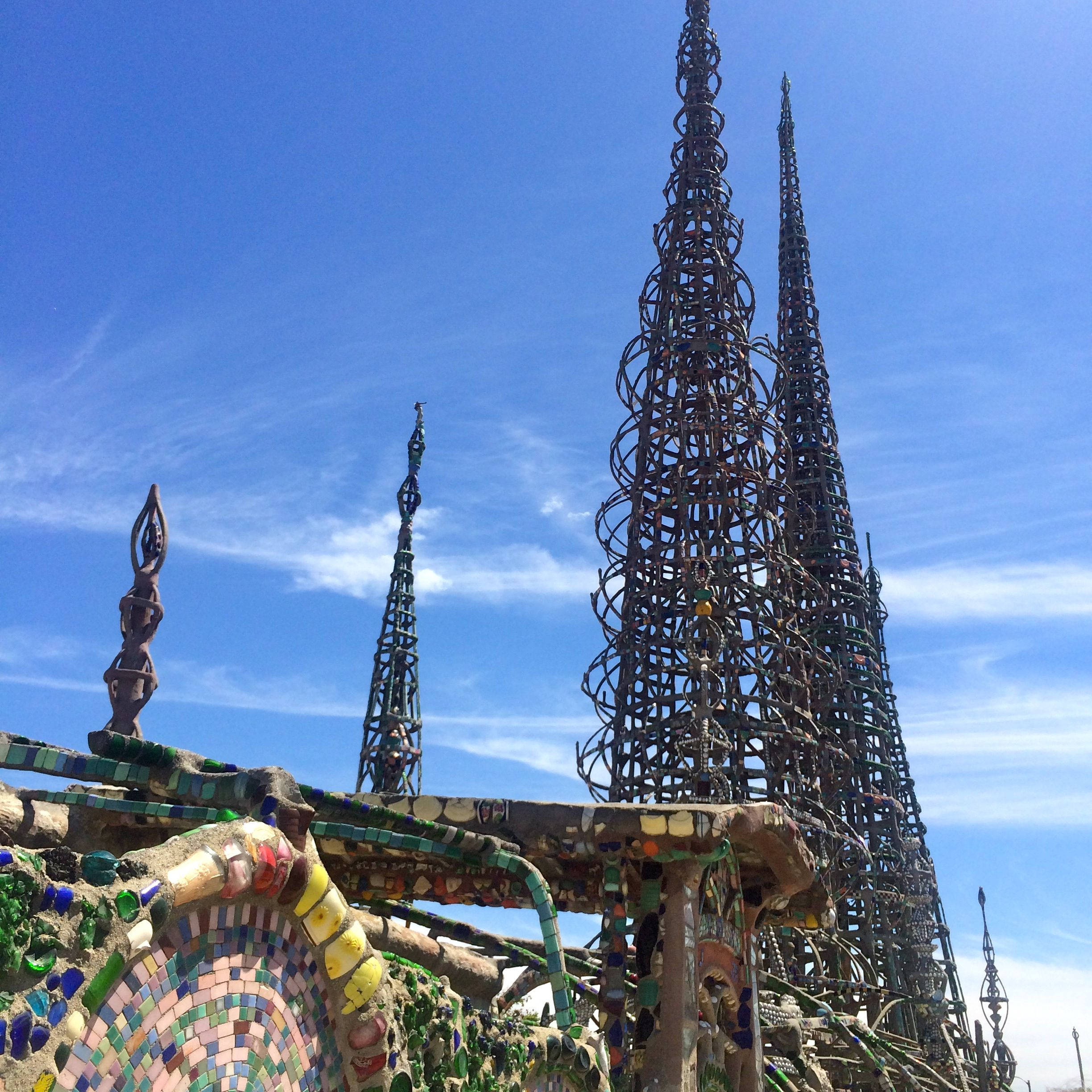 Watts Towers, built between 1921-1954 (photo by Nikki Kreuzer)