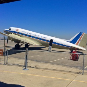 The Flight Path Museum's DC-3 airplane (photo by Nikki Kreuzer)