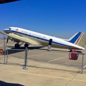 The Flight Path Museum's DC-3 airplane (photo by Nikki Kreuzer)
