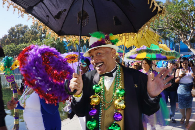 Second line parade at the LB Bayou Fest
