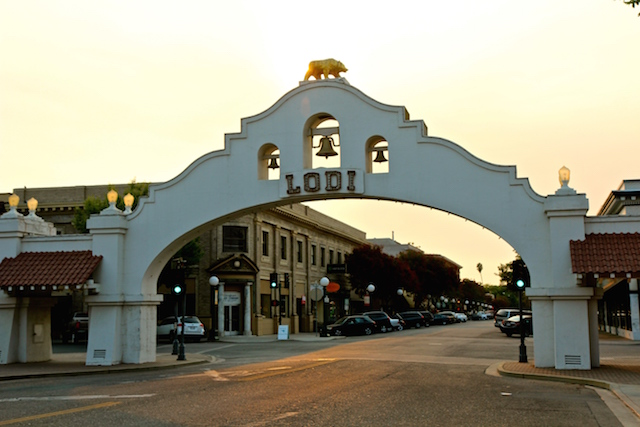 Historic Lodi Arch, Downtown Lodi. Photography by Randy Caparoso