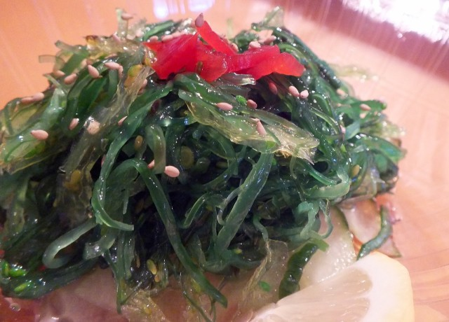 Seaweed Salad CU. Photo by Ed Simon for The Los Angeles Beat.