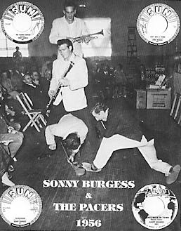 """Sonny Burgess and his legendary Pacers """"rip it up"""" onstage in 1956."""