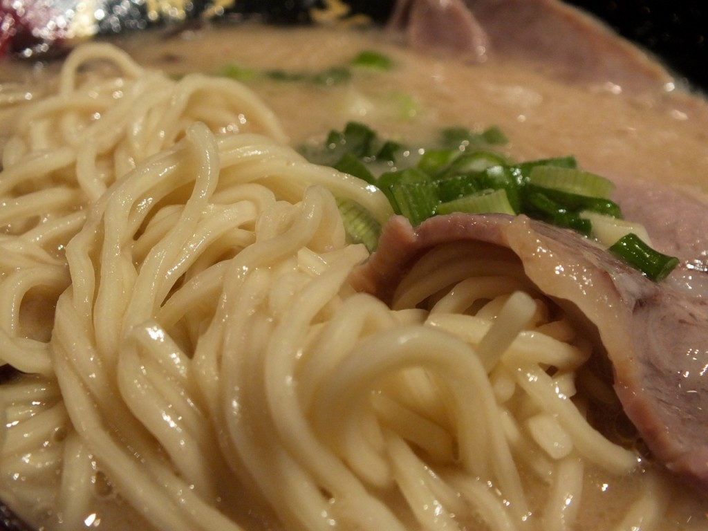 Standard noodles and pork. Photo by Ed Simon for The Los Angeles Beat