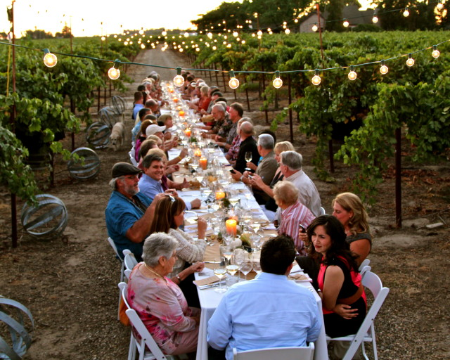 Vineyard Dinner at Harney Lane Winery. Photography by Randy Caparoso.