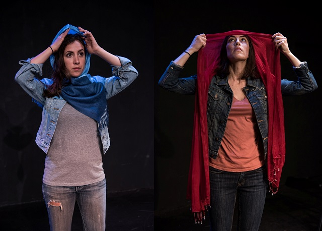 """(L-R) Annika Marks and Jeanne Syquia alternate in the title role of """"All American Girl"""" by Wendy Graf, Photo Courtesy of Rick Friesen"""