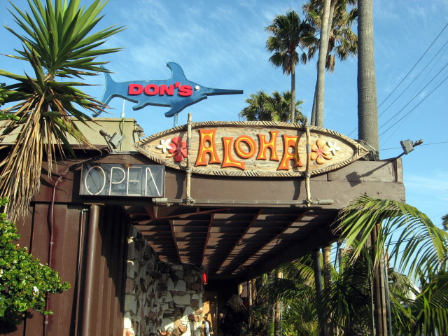 Don's Sign beckons you to a tiki paradise