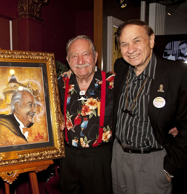 (L-R) Milt Larsen and Richard Sherman, Photo Courtesy of Magic Castle Inc.