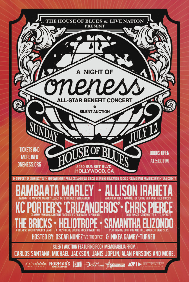 """Interview: """"A Night of Oneness"""" at the House of Blues Features Great Music for an Excellent Cause"""