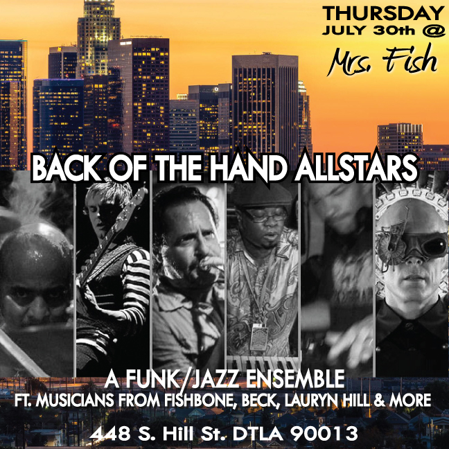 Back of the Hand All-Stars thursday-flyer