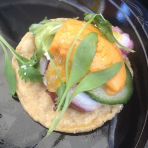 Octopus and Uni Aguachile from Ceviche Project at LA Street Food Fest