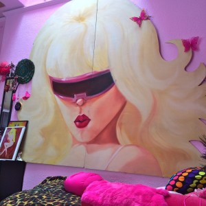 Part of an original Angelyne billboard (photo by Nikki Kreuzer)