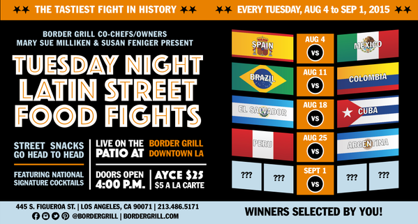 Border Grill Tuesday Night Latin Street Food Fights