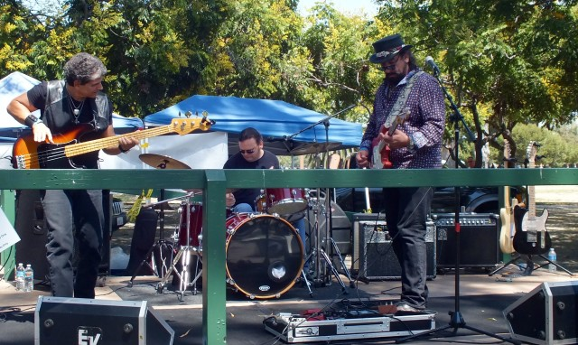 Bluespower on stage at the Long Beach New Blues Festival. Photo by Ed Simon for The Los Angeles Beat.