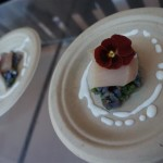 cured hamachi over purple potatoes with dates and jalapeno from the Montage Beverly Hills,