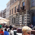 It's fun to hang out in the New York backlot