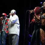 George Clinton with backup