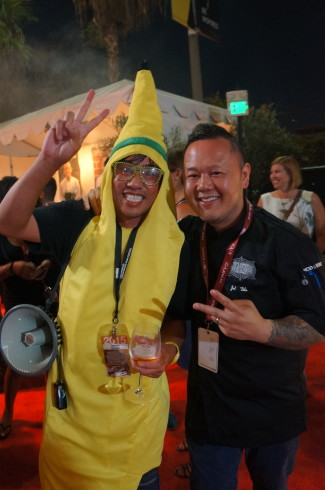 Nguyen Tran of Starry Kitchen hanging with Jet Tila at LAFW last Friday and totally keeping secrets like a boss