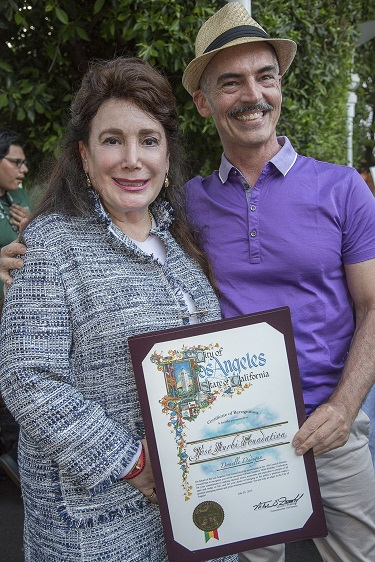 Donelle Dadigan and Councilman Mitch O'Farrell, Photo Courtesy of Bill Dow