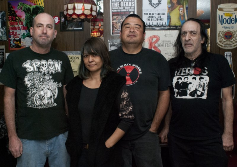 Cafe Nela Staff (left to right) Dave Travis, Cheryl, Timbo and Dirty Ed