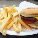 Cheeseburger at Cook's corner. Photo by Ed Simon for The Los Angeles Beat